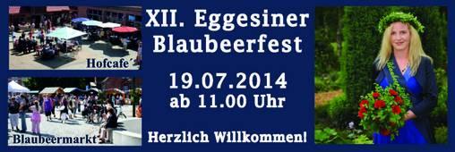 Blauberfest 19. Juli 2014  12. Blaubeerfest in Eggesin