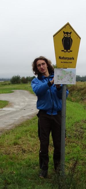 Frieder im Einsatz (Foto: Naturpark-Archiv)