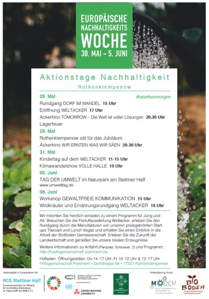 Nachhaltigkeitstage komprimiert Europäische Nachhaltigkeitswoche 30. Mai   05. Juni