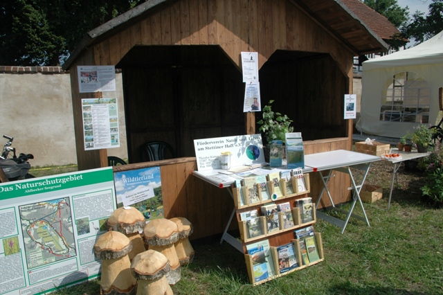 Naturpark Infostand Naturparkfest in Eggesin