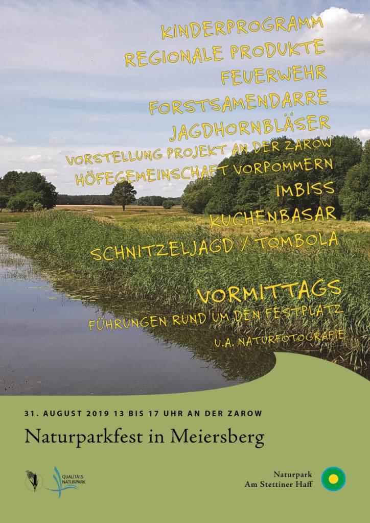 Poster 04 NP Fest 31. August 2019 Naturparkfest in Meiersberg