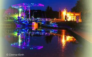 Wunderschön iluminiert werden Sie den Stadthafen und den Langen Trödel beim Naturparkfest am 10.9. erleben. (Foto: Dietmar Korth)