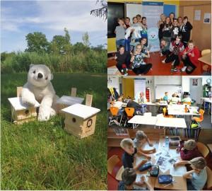 Kinderklimakonferenzen 2019 an Grundschulen im Naturpark Barnim (Fotos: Simon Hoffmann)