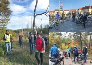 Die erste Klima-Radtour führte von Bernau nach Wandlitz über die Rieselfeldlandschaft Hobrechtsfelde und die Schönower Heide. Trockene Felder, kranke Wälder, geringe Wasserstände - die Folgen des Klimawandels sind spürbar, auch im Naturpark Barnim.