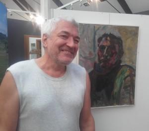 Alexander Luchkin vor Selbstportrait