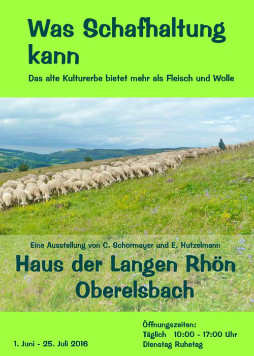 """Plakat Oberelsbach Ausstellung """"Was Schafhaltung kann"""""""