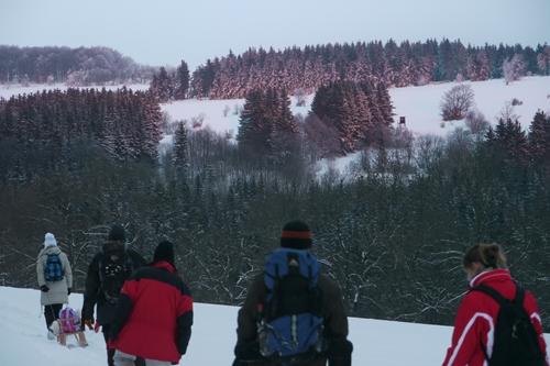 Winterwanderung Winterwanderung in die Nacht
