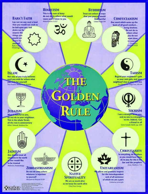 md The Common Foundations of Religions and Theology The Golden Rule 620x810 Weltreligionen   Weltfrieden   Weltethos