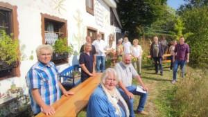 Sonniger Abschluss der Zukunftswerkstatt Dorf in Oberholzen, Wiehl  (Foto: Naturpark Bergisches Land)