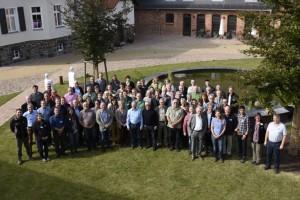 Die Teilnehmer des Deutschen Naturpark-Tags in Bas Belzig (Bild: VDN/Appelhans)