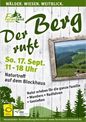 Der Berg Ruft Plakat 300x424 17.09.2017: Der Berg ruft in Reichshof auf dem Blockhaus