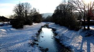 Bachlauf der Aura im Winter – © VDNSabrina - Spessart