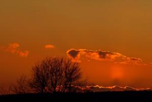 Die Sonne hinterläßt ein Abendrot VDNbeyer Bayerische Rhön
