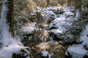 Muglbachfall im Winter – © VDNNorbert Schreiber - Nördlicher Oberpfälzer Wald
