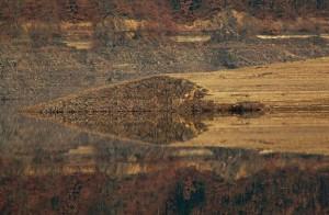 abstrakte Spiegelung – © VDNbaude - Deutsch-Belgischer Naturpark Hohes Venn - Eifel