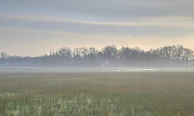 Klicken Sie auf das Bild des Tages im Fotoportal: dunstiger Morgen – © VDNwerner voss - Elbhöhen-Wendland