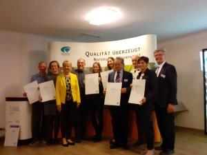 Auszeichnung VDN-Qualitätsoffensive Naturparke 2019 (© VDN/Jörg Liesen)