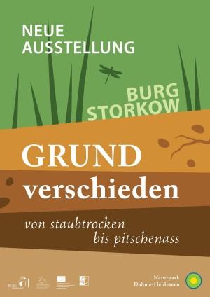 Ausstellungsplakat Grundverschieden (© Besucherinformationszentrum Naturpark Dahme-Heideseen)