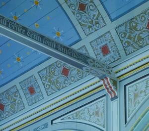 Detailbemalung in der Christuskirche Groß Köris