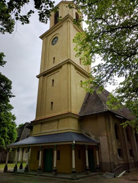 Dankeskirche Frontansicht Tag des offenen Denkmals in Halbe am Sonntag 11. September 2016