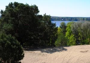 Blick von der Binnedüne auf den Storkower See (Hans Sonnenberg)