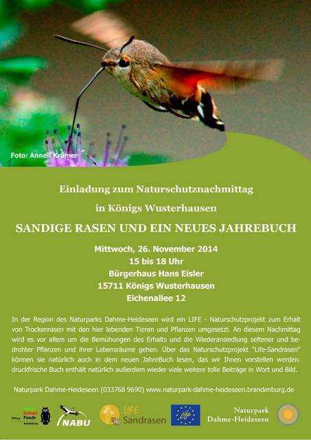Einladung Naturschutznachmittag web Format Naturschutznachmittag in Königs Wusterhausen   Sandige Rasen und ein neues JahreBuch