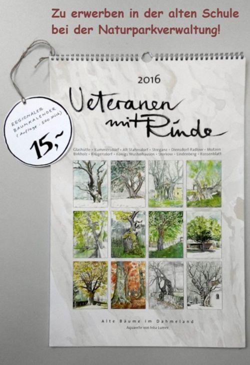 NPDH Baumkalender 2016 Inka Lumer Veteranen mit Rinde