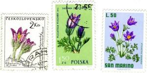 Motive von Kuhschellen auf Briefmarken