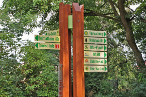 Stele der Akuladestation in Prieros (Foto: Dahmerad)