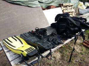 Taucherausruestung 300x225 Tauchen für den Naturschutz