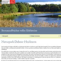 Neue Iinternetseite des Naturparks