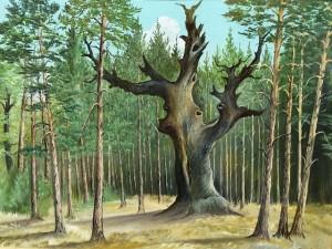 Die Königseiche - ein Baum in Veränderung (Bild Neujahr)