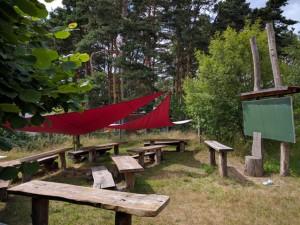 Unterricht geht auch im Freien - Schulgarten in Prieros (Foto: Sonnenberg)