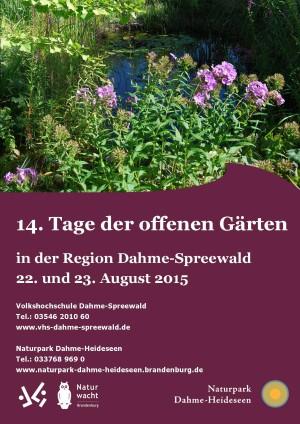 Plakat Tage der offenen Gärten 2015