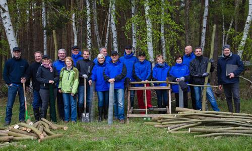 00011 Mitarbeiter von Heraeus Quarzglas engagieren sich im Naturpark Dübener Heide