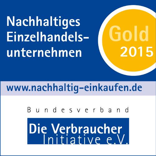 """1 4c Gold Medaille Eckig Einzelhandel 2015 beitrags """"Nachhaltiges Einzelhandelsunternehmen 2015""""   Kaufland erhält Auszeichnung in Gold"""