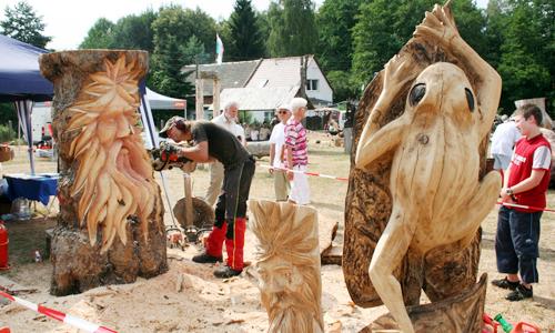 38431 Sommerfest Kunst mit Kettensägen am 27. und 28. Juli im Naturpark Dübener Heide