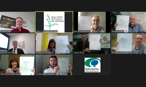 Auszeichnung Qualitätsoffensive Naturparke 2020 Screenshot 500 Naturpark Dübener Heide erhält Auszeichnung als Qualitäts Naturpark
