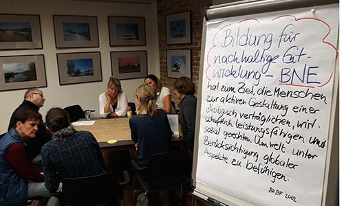 BNE Auftakt Workshop 500 300 Bildung für nachhaltige Entwicklung (BNE) wird zentrale Säule im Naturpark Dübener Heide
