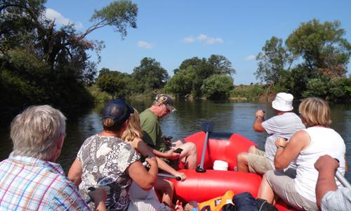 Bootstour 09.08.2015 005 Mit dem Schlauchboot zu Uferschwalbe und Bienenfresser