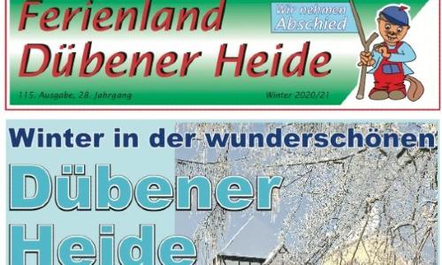 Cover letzte Ferienlandausgabe 500 Abschied vom Gästemagazin Ferienland Dübener Heide