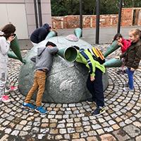 DaZ-Kinder der GS Berg Eilenburg beim Projekt VDN Projekt_Natur erleben verbindet