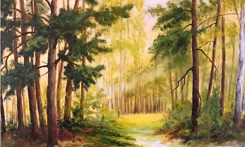 Impressionen in Öl Foto Rita Weber 500 300 Ausstellungseröffnung Impressionen in Öl und Aquarell im NaturparkHaus