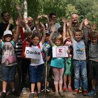 Heidegrundschüler auf Klassenfahrt im Naturpark Dübener Heide (C) Naturpark Dübener Heide