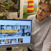 Theresia Stadtler-Philipp präsentiert ihren Online-Marktplatz