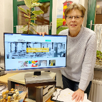 Theresia Stadtler-Philipp präsentiert ihren Online-Marktplatz (C) VDH