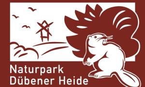 Autobahnschild Naturpark Dübener Heide