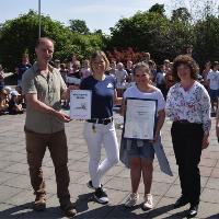 Festakt zur Zertifizierung als Naturparkschule in Weidenhain Foto Bärbel Schumann