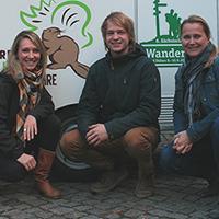 Claudia Evers, Jorrit Holst und Claudia Jakobartl (v.l.n.r.) sorgen für Verstärkung im Naturpark Dübener Heide (C) Naturpark Dübener Heide