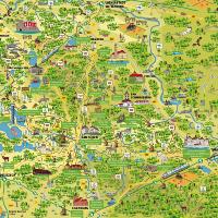 Panoramakarte Dübener Heide